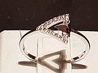 Срібне кільце з фіанітами. Артикул 901-00874 15, фото 1