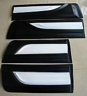 Toyota Hilux Revo 2014 молдинги дверные широкие черно-белые ABS