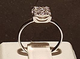 Срібне кільце з фіанітами. Артикул 901-00526 16