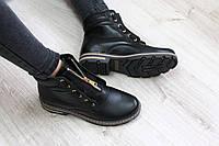 Весенние кожанные ботинки в стиле Balmain
