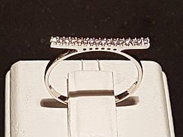 Срібне кільце з фіанітами. Артикул 901-00946 16