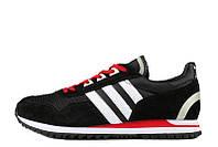 Кроссовки мужские Adidas ZX 400 Black White University Red (в стиле адидас)