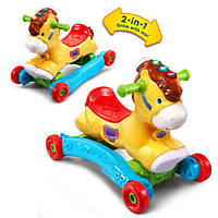 VTech Каталка качалка Лошадка 2 в 1 Gallop and Rock Learning Pony Interactive Ride-On Toy