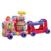 VTech Алфавитный поезд ходунки каталка розовый Sit-to-Stand Ultimate Alphabet Train Pink