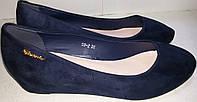 Туфли женские велюровые MEIDELI 08-2 синие ВЕРОН