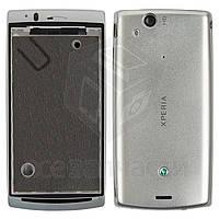 Корпус для мобильных телефонов Sony Ericsson X12,  серебристый