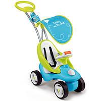 Smoby Машинка-каталка с ручкой 2 в 1 синяя Bubble Go Blue 720101/720102