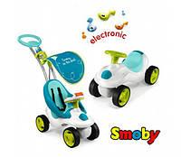 Smoby Машинка-каталка с ручкой 2 в 1 голубая Bubble Go 413000