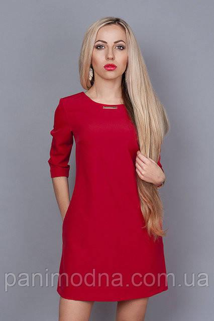 """Красное весеннее платье  - """"Инара""""  код 237"""
