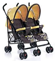 Детская Прогулочная коляска для двойни Geoby - 2 сидушки, карман, крозина