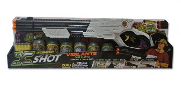 Бластер Пильний мисливець на Зомбі X-Shot: 6 банок, 10 патронів