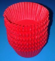 Кекс пергаментный Ф=5см (100шт.) выс.30мм красный