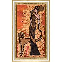Набор для вышивки бисером на холсте «Дама с собачкой»