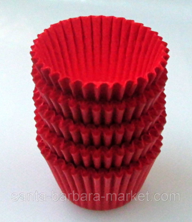 Кекс пергаментный Ф=3см (100шт.) выс.22мм красный