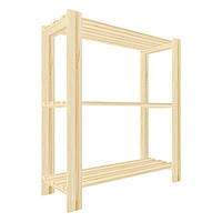 Стеллажи деревянные 900Х800Х300 3 Полки