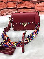 Модная сумка с текстильным ремнем