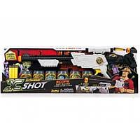 Бластер ЗомбіСкоп X-Shot: 6 банок, 6 дартс