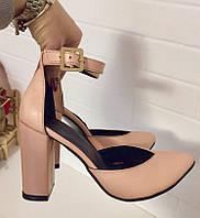 Mante! Красивейшие кожаные женские босоножки на каблуке 10 см весна лето осень модный и нежный цвет пудра шик