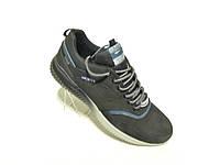 Кожаные мужские кроссовки Splinter стиль Adidas ч сер, фото 1