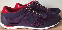 Мужские кроссовки в стиле New Balance сетка туфли большие размеры кожа комфорт качество