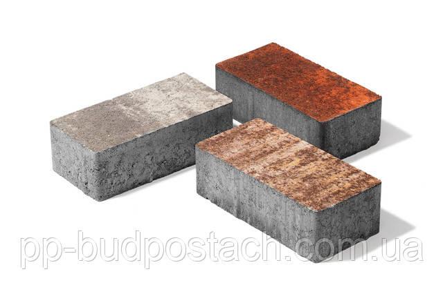 Тротуарна плитка Бруківка Колор-мікс