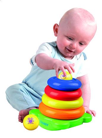 """Развивающая игрушка """"Забавная пирамидка"""" 6634 d Tomy"""