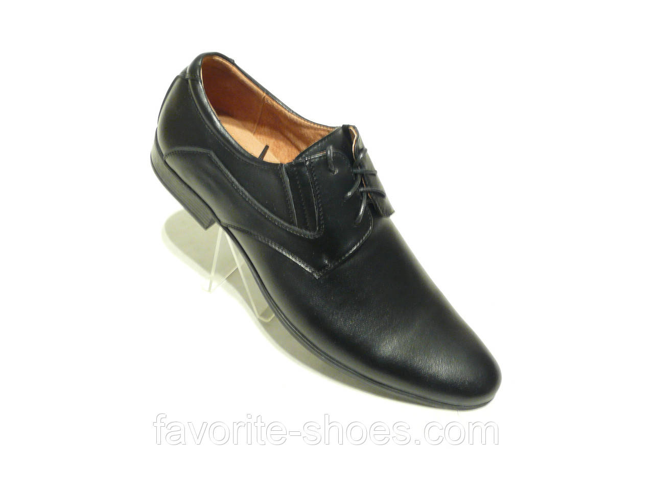 Кожаные мужские туфли Silver резинка шнурок