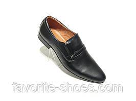 Кожаные мужские туфли Silver резинка
