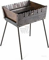 Мангал стальной на ножках, раскладной на 6 шампуров