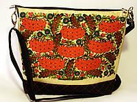 Женская джинсовая стеганная сумочка Калина, фото 1