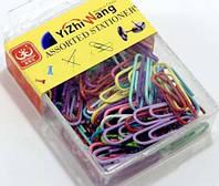 Скрепки цветные в пластике 9-66, 50шт/уп
