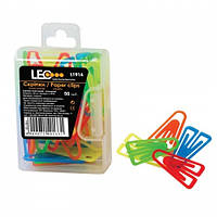 Скрепки цветные L1914 25мм пластиковые 50шт/уп