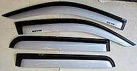 Toyota Hilux Revo 2014 ветровики дефлекторы окон черно- серебристые