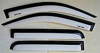 Toyota Hilux Revo 2014 ветровики дефлекторы окон черно- белые