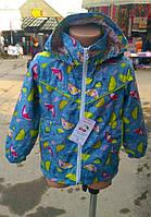 Куртка-ветровка на трикотажной х/б подкладке р.98-116 для девочек весна-лето-осень