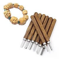 Профессиональные стеки для лепки резьбы дерево металл+футляр, 8 шт.с