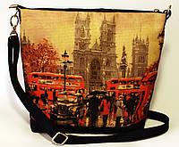 Женская джинсовая стеганная сумочка Лондон