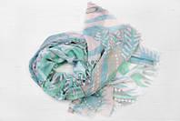 Легкий шарф Франческа из вискозы и хлопка, бирюза/голубой