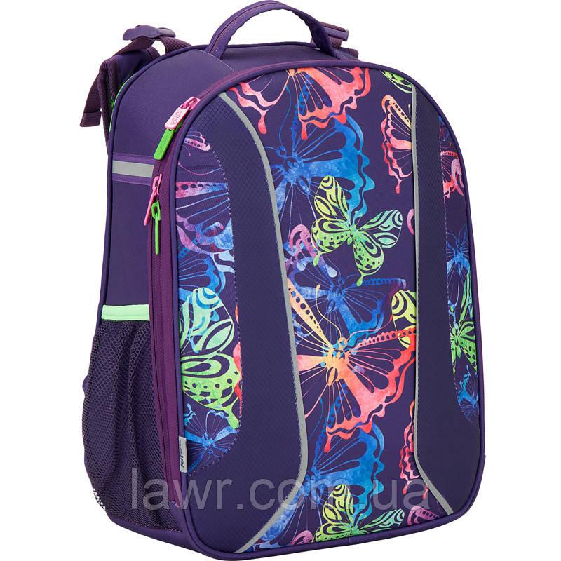 a55ff3777501 Ранец школьный каркасный ортопедический KITE 2017 Neon butterfly 703-1 -  Интернет-магазин