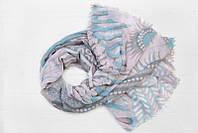 Легкий шарф Франческа из вискозы и хлопка, серый/розовый