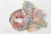 Легкий шарф Франческа из вискозы и хлопка, персик