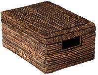 Ящик корзина плетенная из бананового листа с крышкой и ручками
