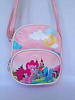 """Сумка детская """"Маленький Пони"""" с ремешком через плечо розового цвета"""
