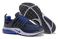 Кроссовки кожаные мужские Nike Air Presto TP QS Flyknit Blue Black M. сайт магазина найк, Аир престо