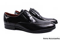 Мужские туфли Basconi натуральная кожа цвет черный (мокасины мужские, комфорт, каблук)