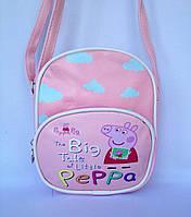 """Сумка детская """"Свинка Пеппа"""" с ремешком через плечо розового цвета"""