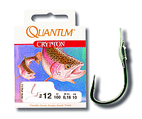 Quantum Готовые поводки Crypton Forelle (Форель) (#8 Crypton Forelle Vorfachhaken schwarz nickel 0,20mm 150cm)