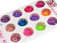 Камифибуки, конфети для декора, яркие неоновые, фото 1