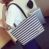 Женская элегантная сумка в полоску