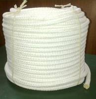 Шнур плетеный ПП ф 8мм полый бел